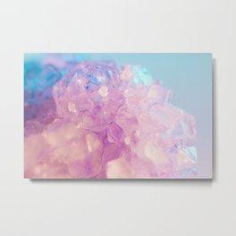 Purple Spiritual Quartz Crystal Metal Print
