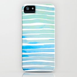 New Year Blue Water Lines iPhone Case