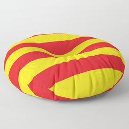 Catalan Flag - Senyera Floor Pillow