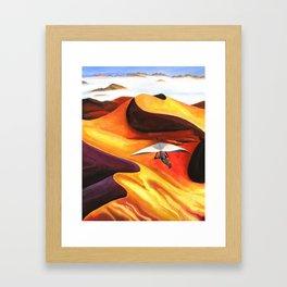 Hang-Glider Oil Painting Framed Art Print