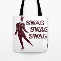 swag Tote Bags featuring Swag Swag Swag by Krissy Diggs