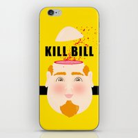 kill bill iPhone & iPod Skins featuring Kill Bill by Frikaditas T-Shirts