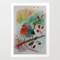 Rouge-Gorge Art Print