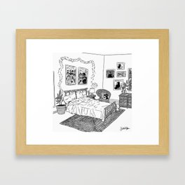 Bedroom 1 Framed Art Print