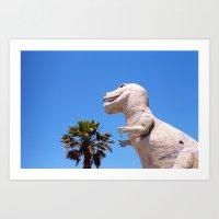 dinosaur Art Prints featuring Dinosaur!!! by David Ray