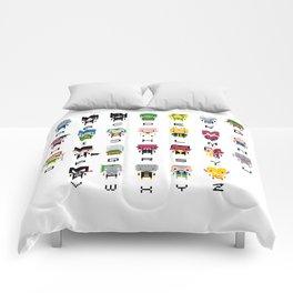 Pixel Supervillain Alphabet 2 Comforters