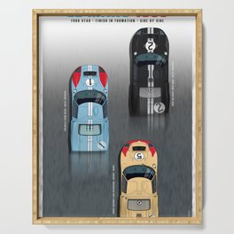 GT40 Le Mans 1966, Finish side by side Serving Tray