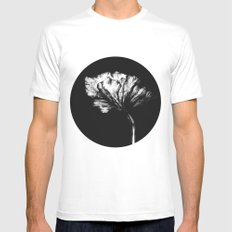 Bloom1 MEDIUM White Mens Fitted Tee