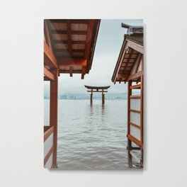 Itsukushima Shrine. Torii gate. Miyajima, Japan. Travel print - Photography wall art. Art print. Metal Print