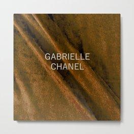 coco gabrielle bronze edition Metal Print