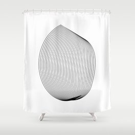 """""""Linear Collection"""" - Minimal Letter O Print Shower Curtain"""