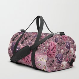 Pink Fractal Duffle Bag
