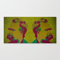 nietzsche Canvas Prints featuring Friedrich Nietzsche by AngelaCorrin