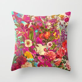 Atomic Garden Throw Pillow