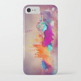 Colored London skyline iPhone Case