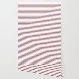 Dark Red Pear Mattress Ticking Wide Striped Pattern - Fall Fashion 2018 Wallpaper
