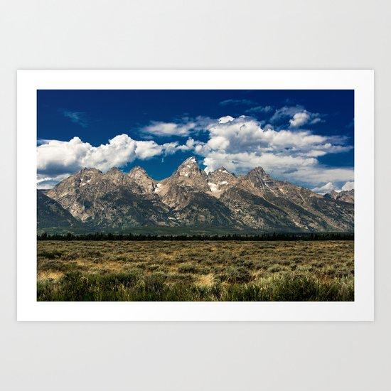 The Grand Tetons - Summer Mountains Art Print