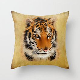 The Tiger Stare Throw Pillow