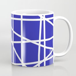 Doodle (White & Navy Blue) Coffee Mug