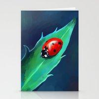 ladybug Stationery Cards featuring Ladybug by Freeminds