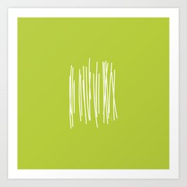 Wood - Minimal FS - by Friztin Art Print