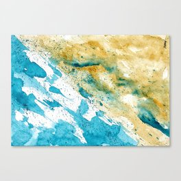 Dynamics Of Water Canvas Print