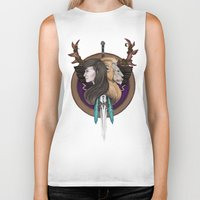 warcraft Biker Tanks featuring Lions! Make You Brave by Emily Anne Daugherty
