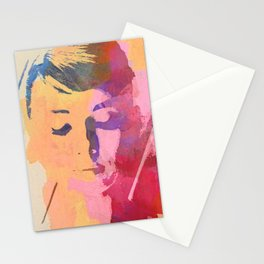 water color portrait Stationery Cards
