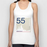 denmark Tank Tops featuring Denmark stamp  by Little Parcels Shop