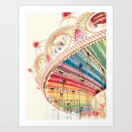 Flying Carousel 1 - Six Flags America Art Print