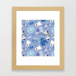 Chinoiserie Curiosity Cabinet Toss 7 Framed Art Print