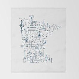 Minnesota Up North Collage Throw Blanket