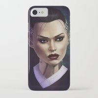 mass effect iPhone & iPod Cases featuring Mass Effect: Jack by Ruthie Hammerschlag