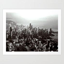 Chicago Skyline (tilt-shift) Art Print