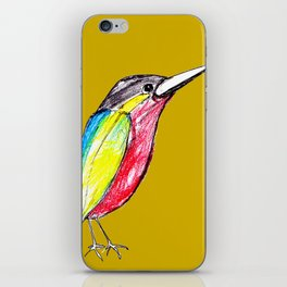 Colour bird iPhone Skin
