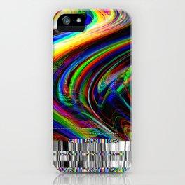 Rainbow modern glitch effect iPhone Case