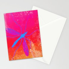 blue insect Stationery Cards