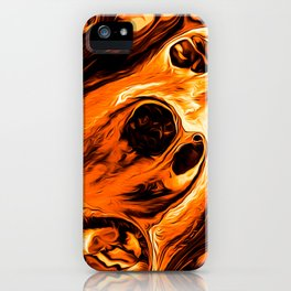 Abstract Gold Fire Paint IV iPhone Case