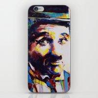 charlie chaplin iPhone & iPod Skins featuring Charlie Chaplin by Marta Zawadzka