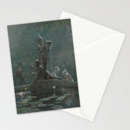 Garden Fountin, Central Park Stationery Cards