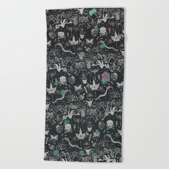 Bones in the Desert Beach Towel