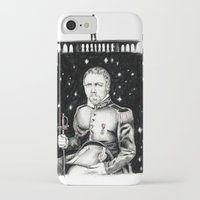 les miserables iPhone & iPod Cases featuring Les Miserables Portrait Series - Javert by Flávia Marques
