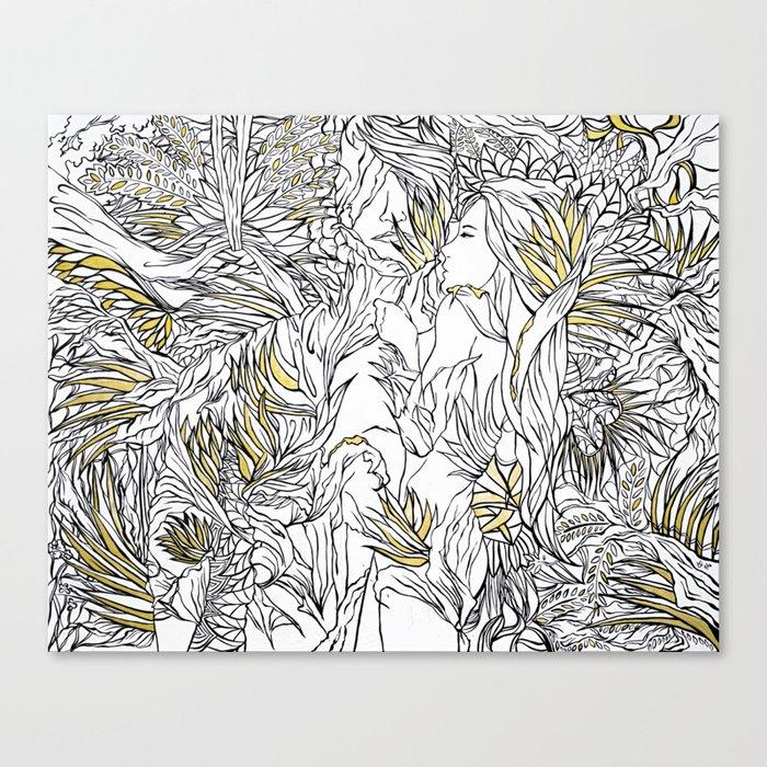 Lotus flower bomb ii canvas print by karoleend society6 lotus flower bomb ii canvas print mightylinksfo