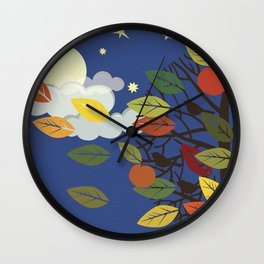 """Seasons"" Summer-Autumn Wall Clock"