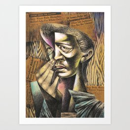 African-American Classical Masterpiece 'Headlines' by Charles White Art Print