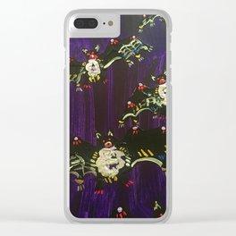 Black Bats Clear iPhone Case