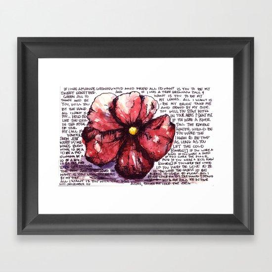 Juno Flower Framed Art Print