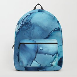 The Blue Abyss - Alcohol Ink Painting Backpack
