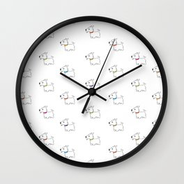 Westie West Highland White Terrier Wall Clock