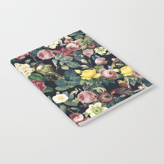 Floral and Birds IV Notebook